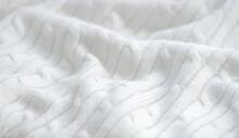 Eamless Pattern Of Knitting Braids, Endless Texture, Stylized Sweater Fabric.
