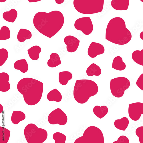 Foto Seamless heart love pattern for Wedding, anniversary, birthday and party