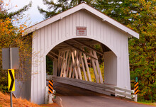 Hannah Covered Bridge In Oregon