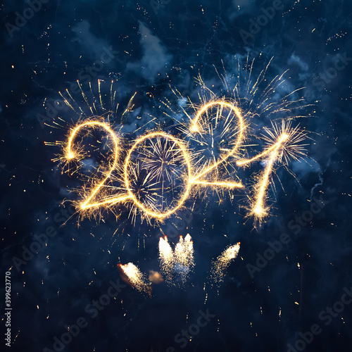Obraz Happy New Year 2021 - fototapety do salonu