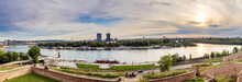 A View From Kalemegdan Fortress In Belgrade To Sava River And City Downtown.