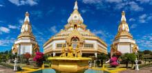 Phra Maha Chedi Chai Mongkhon, Roi Et.Phra, Located At Wat Pha Namthip Thep Prasit Vararam, Roi Et Province,THAILAND.