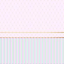Pink & Gold Studded Diamond Pattern - Wallpaper - Vector