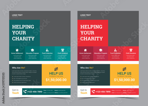 Canvastavla charity flyer design, life charity existence promotion, education program