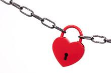 Lock Of Love - Red Heart Lock