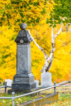 Historic Cemetery In Fall