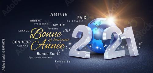 Cuadros en Lienzo 2021 carte nouvelle année meilleurs voeux