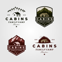 Vintage Cabins Logo Collections Vector Illustration