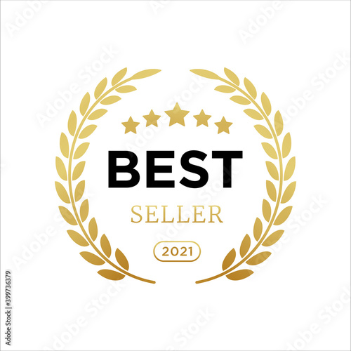 Obraz na plátně Best seller badge logo icon design laurel
