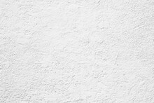 White Cement Texture Stone Concrete,rock Plastered Stucco Wall; Painted Flat Fade Pastel Background White Grey Solid Floor Grain. Rough Top White