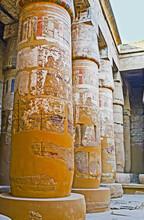 The Preserved Columns In Khonsu Temple, Karnak Temple, Luxor, Egypt