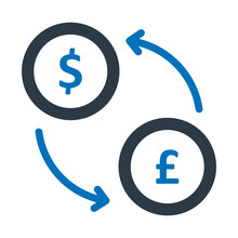 Currency Exchange, Exchange Vector Icon Which Can Easily Modify