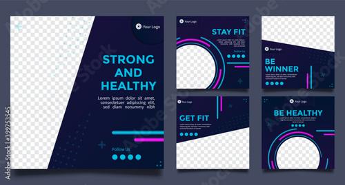 Fotografía Fitness Social media post templates