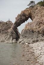 Rocks On The Beach Looks Like Elephant