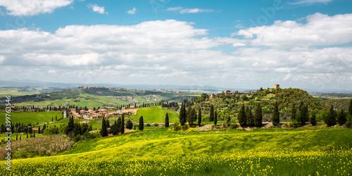 Toskański krajobraz, Toskana, Italia, Włochy - fototapety na wymiar
