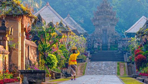 Fototapeta Penglipuran is a traditional oldest bali village at Bangli Regency - Bali, Indonesia obraz
