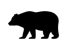 Vector Illustration Logo Bear Silhouette