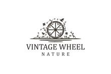 Cart Wheel Vehicle Traditional Logo Design, Farming Wagon Wood, Cart Wood Rustic, Traditional Cart Design.