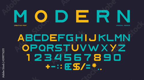 Fotografie, Obraz Latin alphabet, numbers and punctuation, font