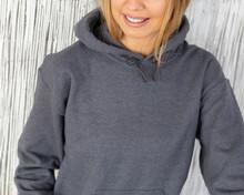 Grey Hoodie Sweatshirt Mockup With Lifestyle Model