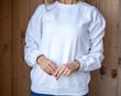 White blouse for mockup design
