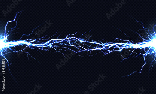 Canvas-taulu Electrical energy discharge 3d vector light effect