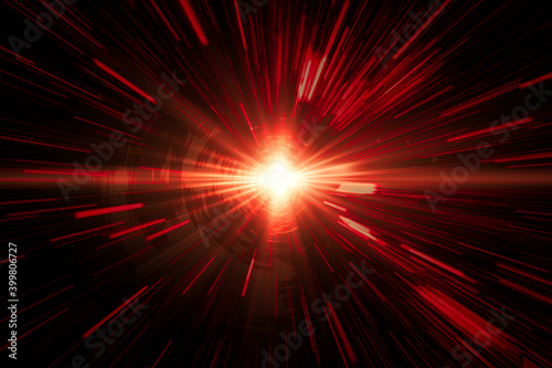Canvastavla Fire laser red light moving fastest high speed concept, Acceleration super fast speedy drive motion blur abstract for background design