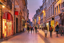 Street Scene In Old Town Of Besançon, France