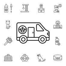 Pets, Ambulance Flat Vector Icon In Petshop Pack
