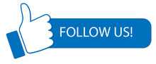 Follow Us Banner  With Hand