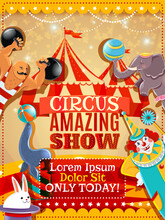 Circus Performance Announcement Vintage Poster
