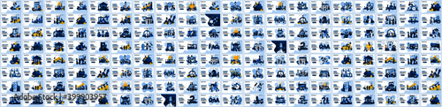 Fototapeta Mega Collection of business concept flat vector illustration