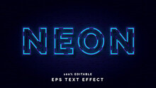 Editable Neon Lights Text Effect Style Template