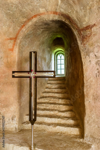 Foto Jacob's ladder with a crucifix in an old church