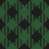 Lumberjack plaid seamless pattern. Vector illustration. Green color. Textile template. - 399928115