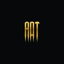 AOT Initials Logo Vector Vintage Gold Design