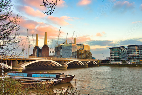 Fototapeta Grosvenor Railway Bridge London Uk