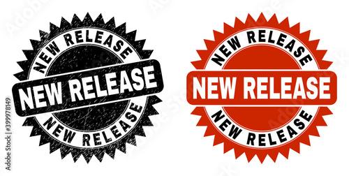 Obraz na plátně Black rosette NEW RELEASE seal stamp