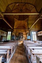 Interior Of Petaejeveden (Petajavesi Old Church), Petajavesi, UNESCO World Heritage Site, Finland