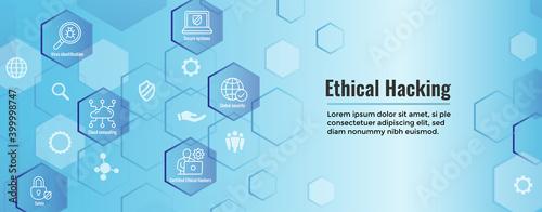 Fotografia Certified Ethical Hacker - CEH - icon set & web header banner