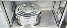 Medical Large Iron Container For Sterilization Of Operating Instruments.
