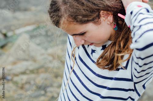 portrait d'une jeune fille douce. Fototapete