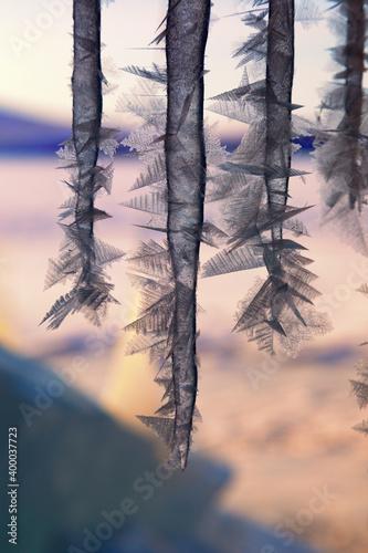 Winter Baikal. Olkhon Island. Fairy-tale Icy grotto