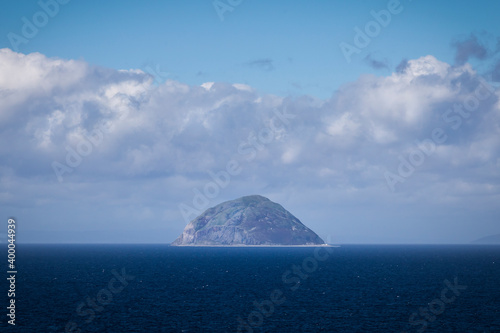 Slika na platnu view of Ailsa Craig with clouds