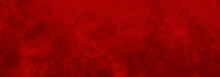Beautiful Red Background With Concrete Texture To Use In Christmas / Valentine Designs