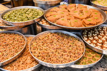 Baklava On Plates, A Turkish National Delicacy.