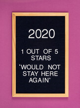 2020 Year Terrible Rating Funny Sign