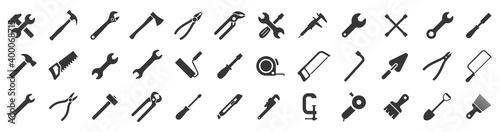 Canvas Print Tools icons set