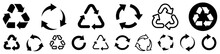 Recycling Icon Set. Recycle Icons. Vector Illustration