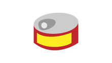 Canned Fish Line Icon, Outline Vector Symbol Illustration. Pixel Perfect, Editable Stroke